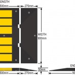 Cheap Traffic calming Speed Hump 900mm wide just $108 *FREE DELIVERY
